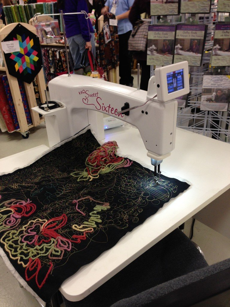 A special sewing machine for home quilters!