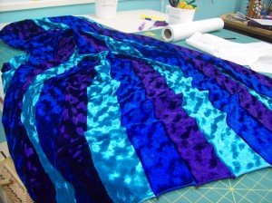 Finished fabric for sleeves.