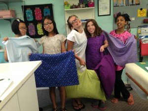 Last day of camp and the nighties and pillow cases are all done! Things tend to get a bit goofy at the SewGood studio!