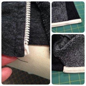 Replacing a zipper